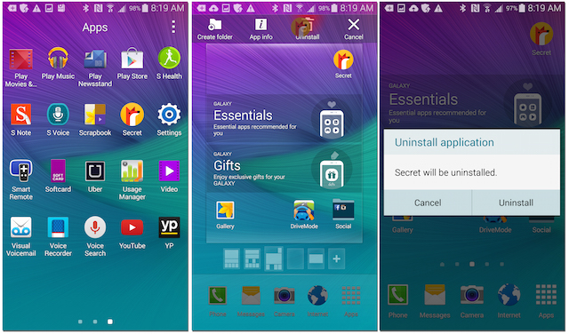 Galaxy Note 4: How to delete apps | Android Forums