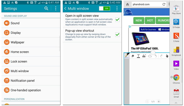 Galaxy Note 4: how to splitscreen - Samsung Galaxy Note 4 | Android
