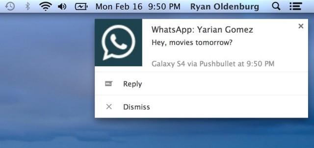 Pushbullet Whatsapp