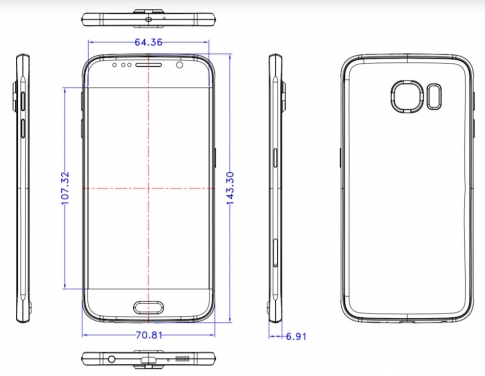 Leaked Samsung Galaxy S6 schematics show the phone copying the ...