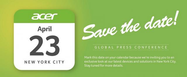 Acer April 23rd 2015 event invite