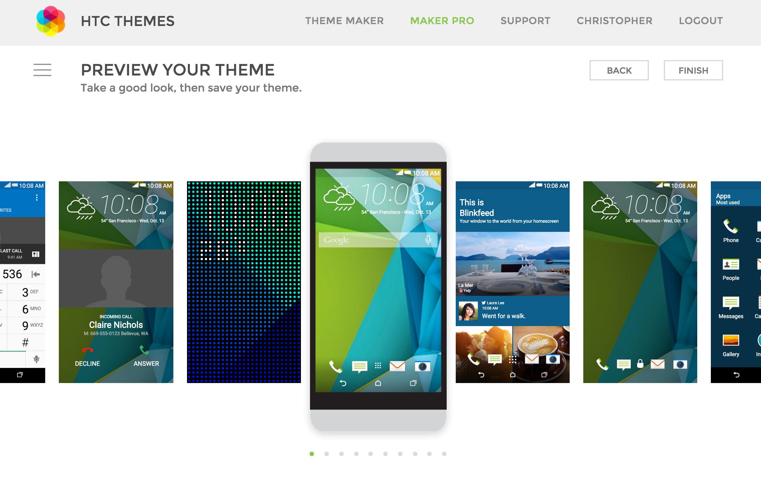 HTC's web tool lets you build your own Sense 7 theme