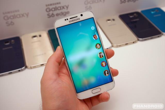 Samsung Galaxy S6 Edge screen settings DSC08584