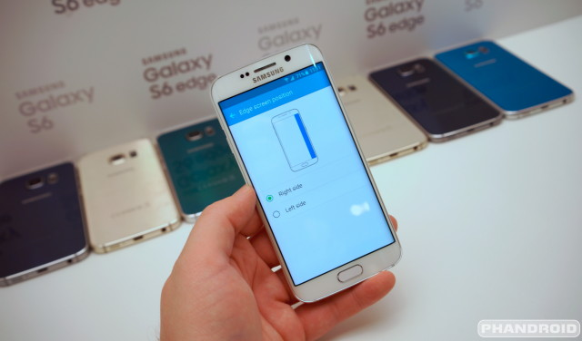 Samsung Galaxy S6 Edge screen settings DSC08594
