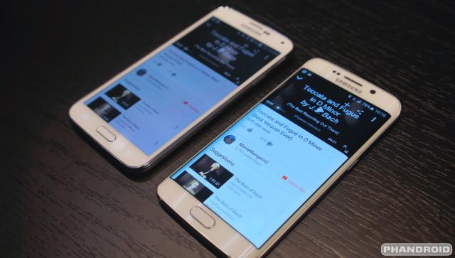 Samsung Galaxy S6 vs S5 speaker DSC08688