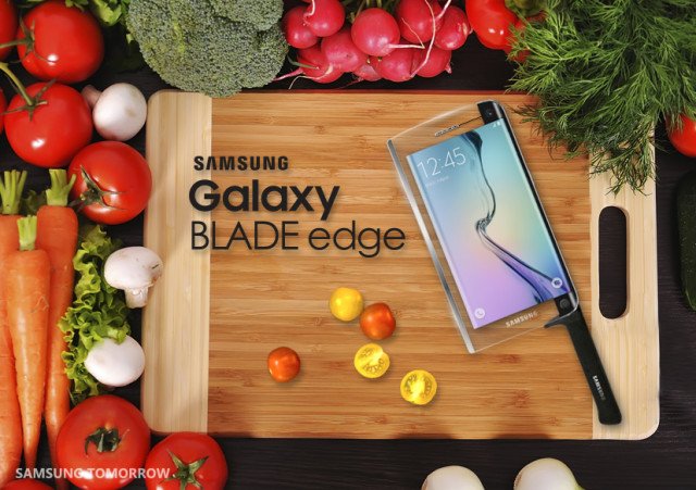 samsung galaxy blade edge joke