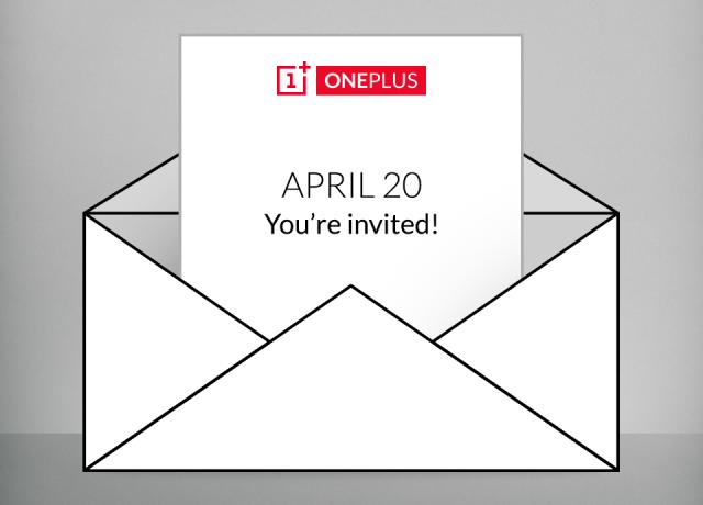 OnePlus event invite announcement April 20th 2015