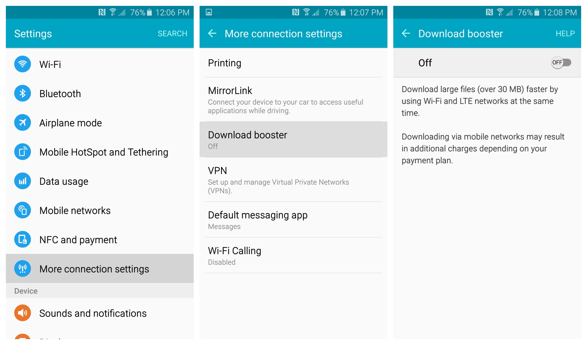 samsung galaxy s6 manual network selection