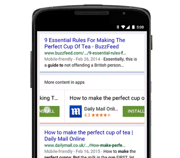 Google Search will now show a download link for indexed apps