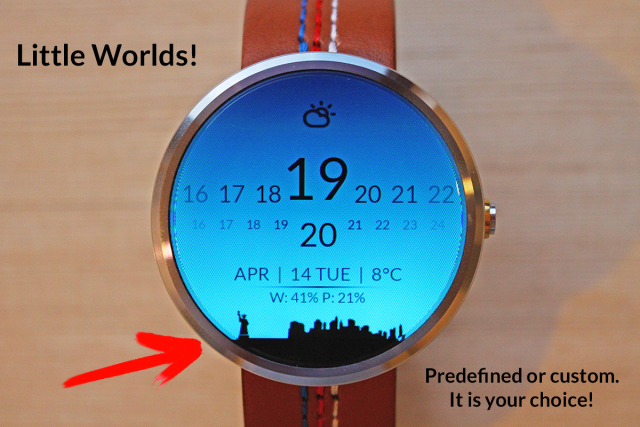 little worlds watch face