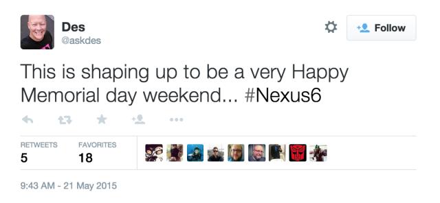 Nexus 6 WiFi Calling update memorial weekend