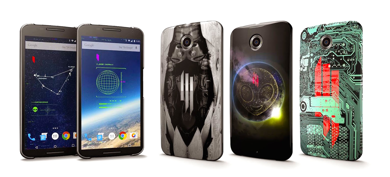Google unveils limited edition Skrillex cases with matching live wallpapers for select Android devices