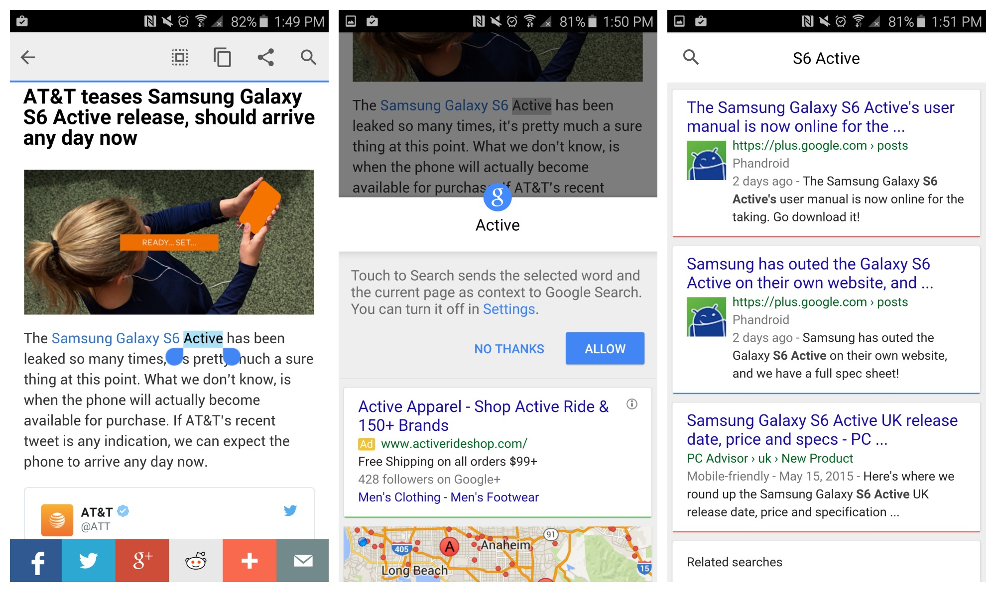 Google formally announces Chrome's new tap to search feature, will