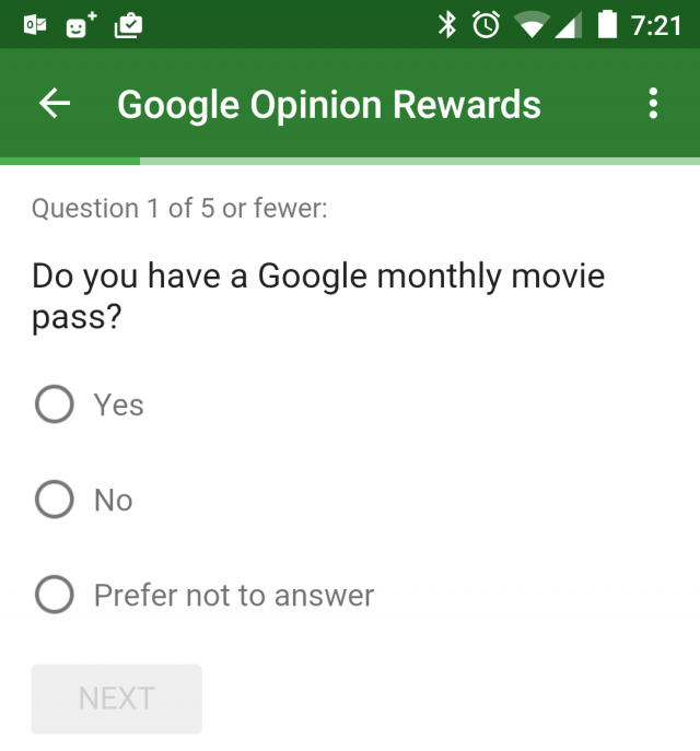 Google montly movie pass Opinion Rewards