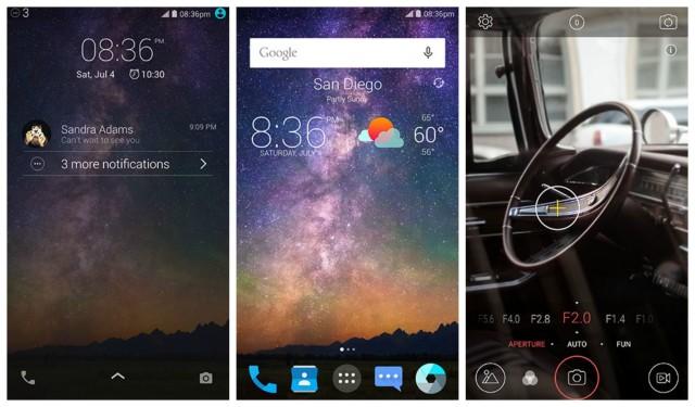 ZTE Axon Phone screen shots