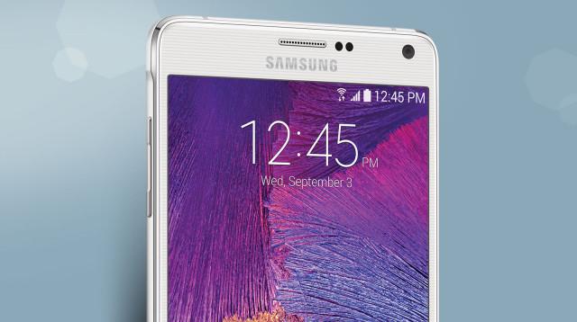 Samsung Galaxy Note 4 top