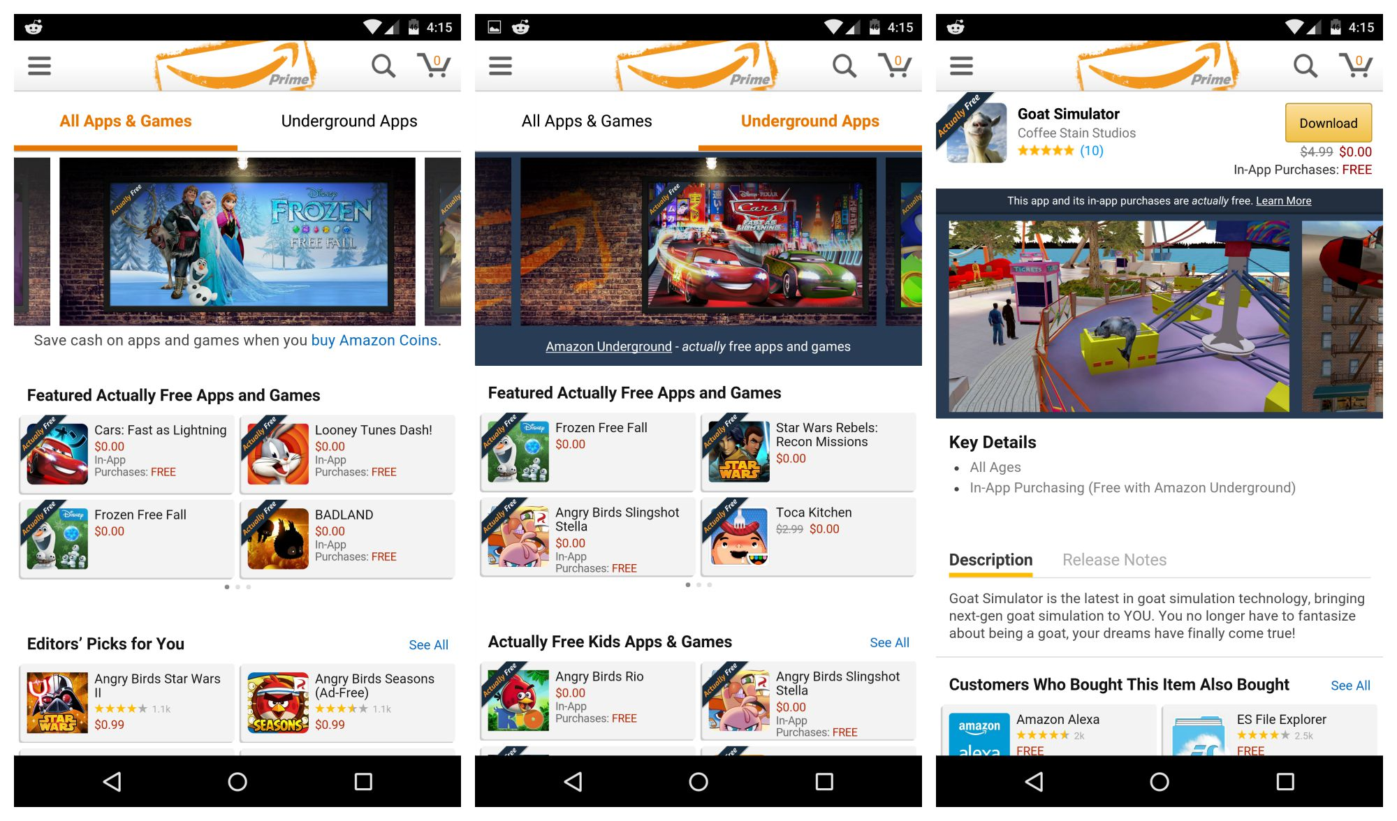 Amazon replaces Free App of the Day with new Underground app