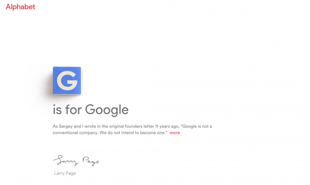 G is for Google