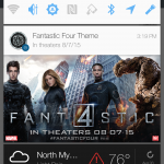 HTC One Fantastic Four notification ad