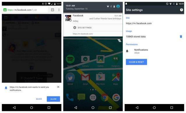 Facebook Chrome notifications
