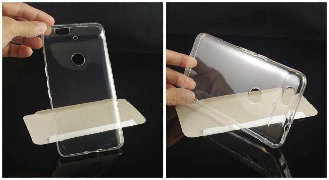 Huawei Nexus 6 clear TPU case leak