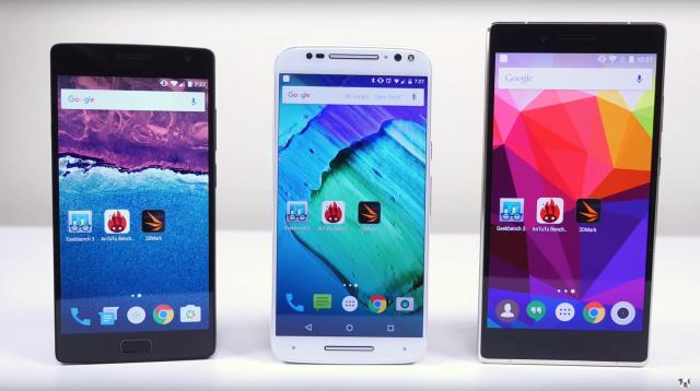 OnePlus 2 vs Moto X Pure Edition vs BLU Pure XL speed test