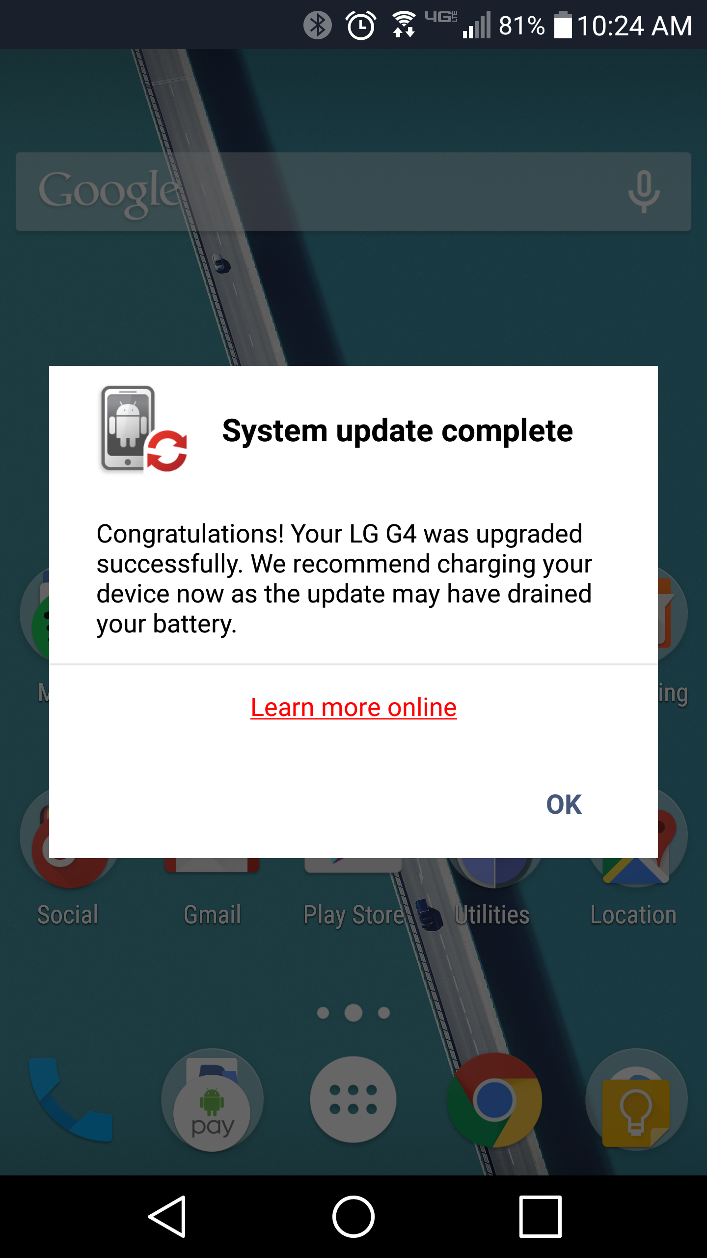LG G4 on AT&T and Verizon is getting a huge system update