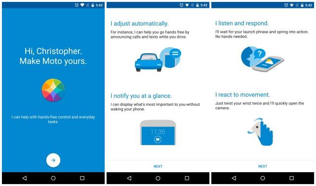 Moto X Pure app