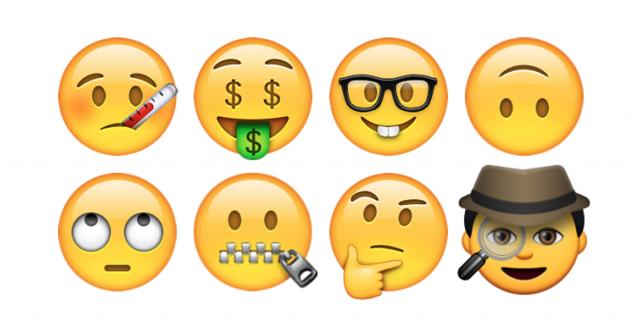 Unicode 8.0 emoji faces