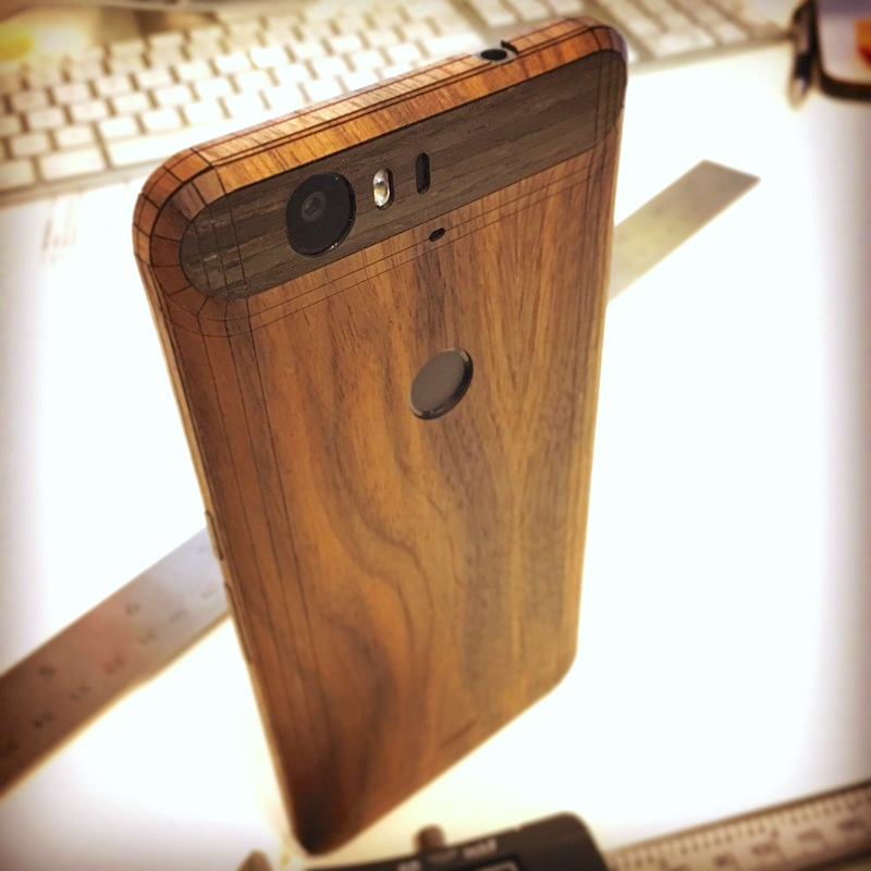 online store a277d 265ba Nexus 6P wood covers from Toast now available