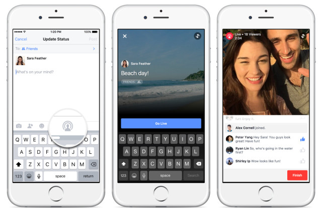 Facebook Live Video streaming