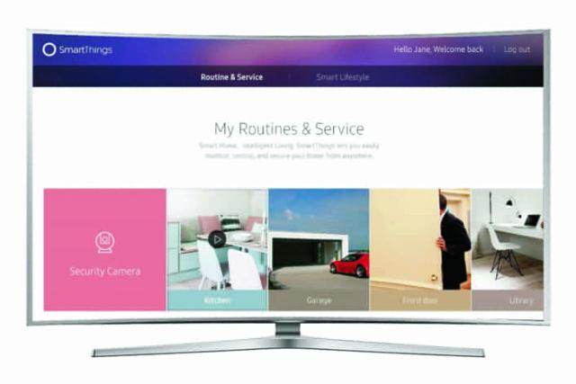 samsung smart tv iot smartthings