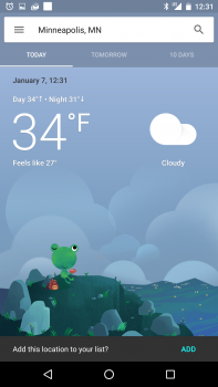 google now weather card today 2