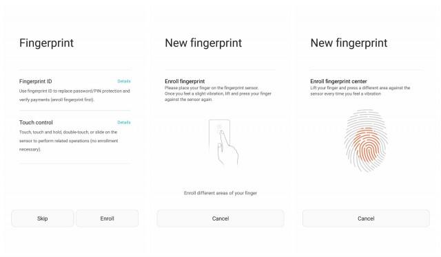 honor 5x fingerprint ID enroll setup
