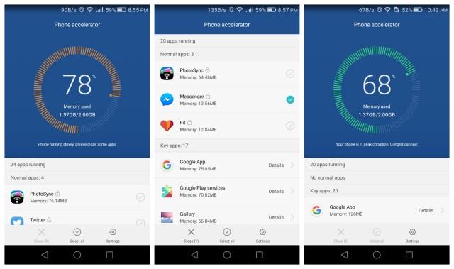 honor 5x phone accelerator app