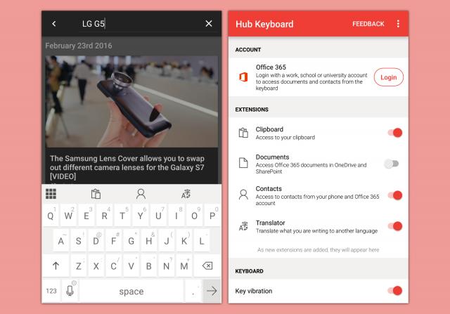 Microsoft Hub Keyboard