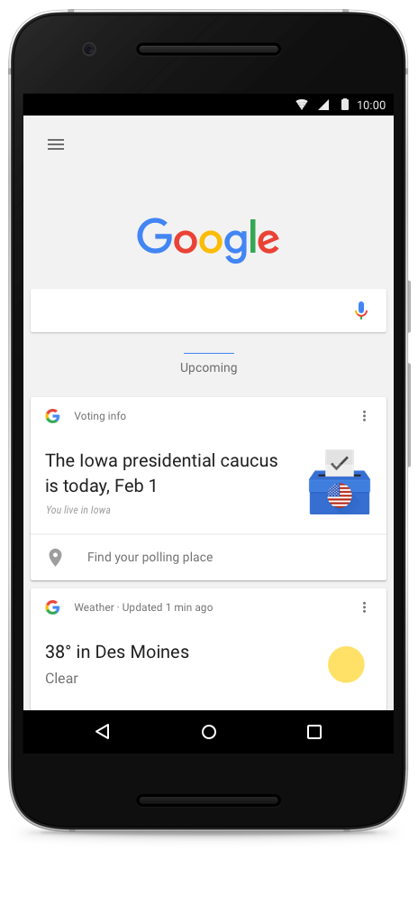 iowa caucus google