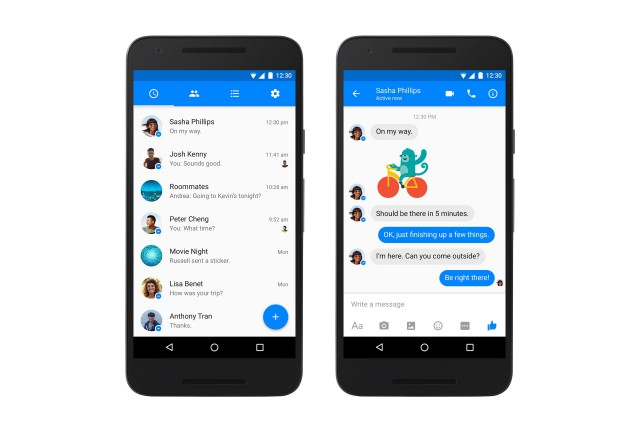 Android Facebook Messenger Material Design