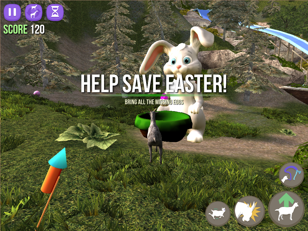 Goat Simulator updated with new Easter content, now 80% off on