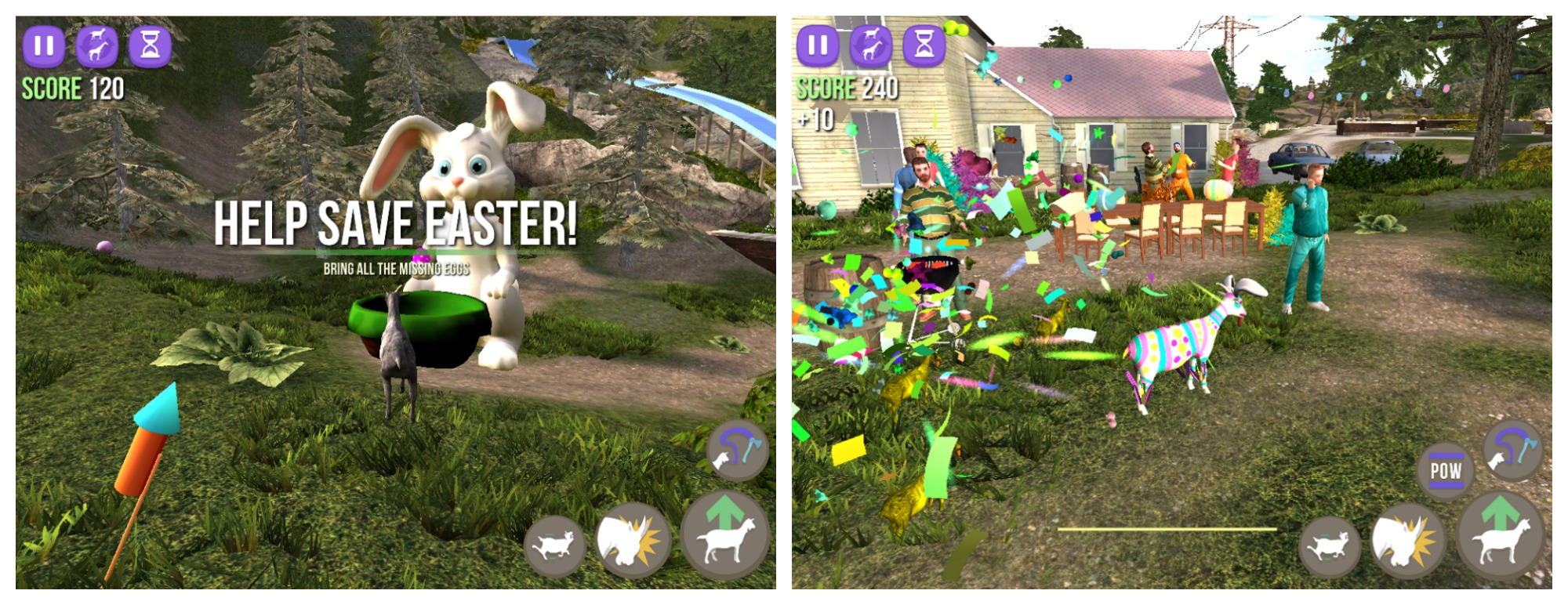 Goat Simulator updated with new Easter