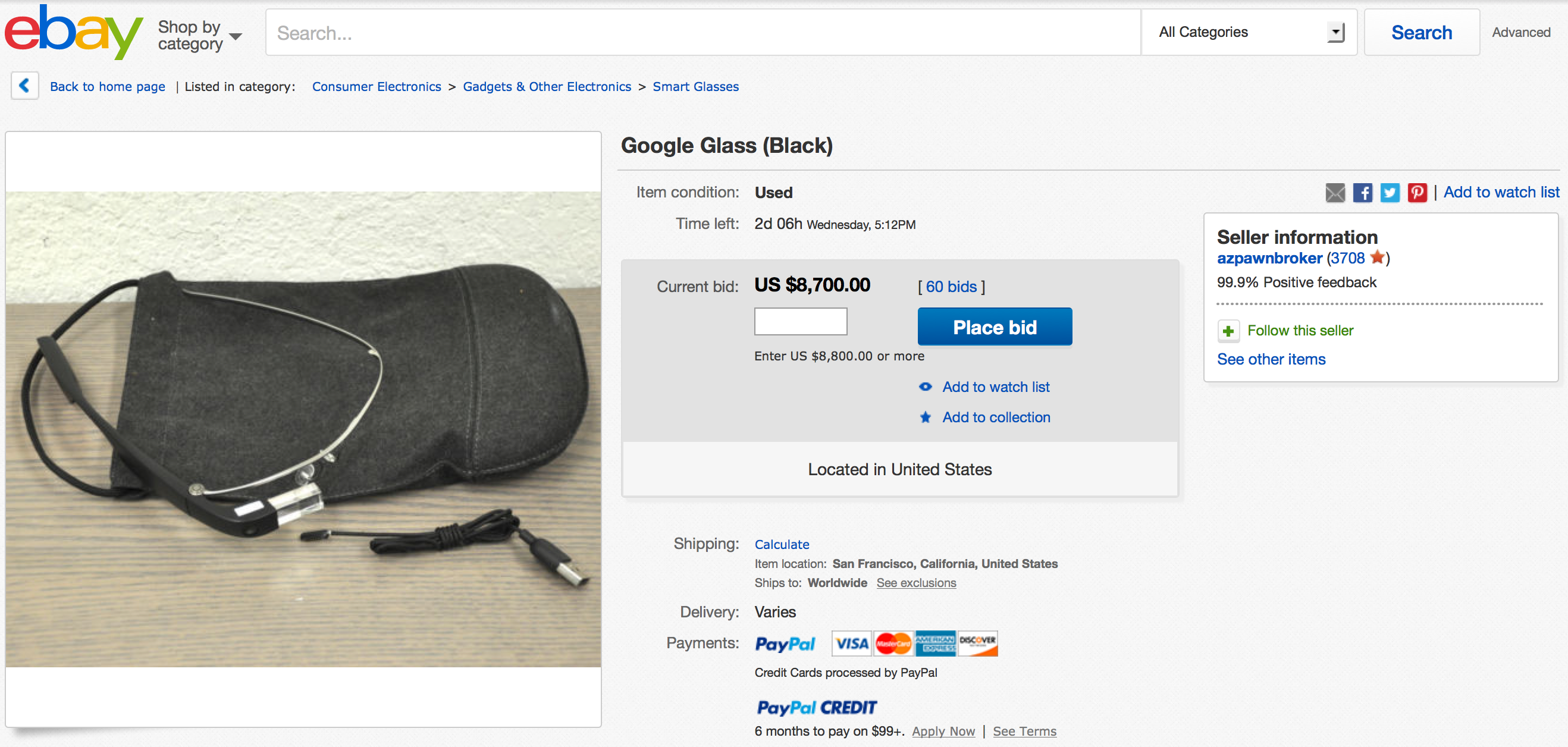 666a9b0354a Google Glass Enterprise Edition pops up on eBay