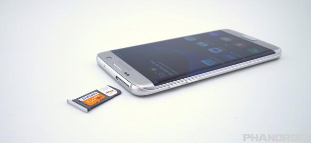 Samsung Galaxy S7 Edge micro SD card SIM slot DSC01919