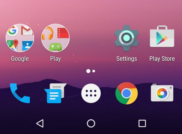 Google Now Launcher in Android N has a new look for folders