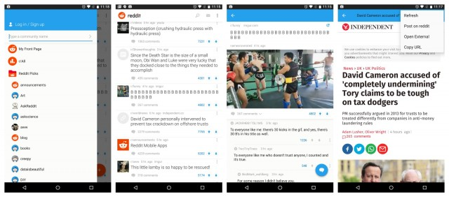 Reddit the official app Android screenshots