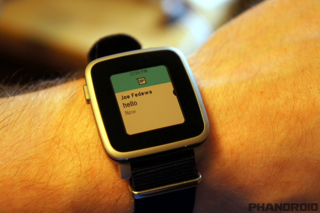 Pebble Time Steel 5