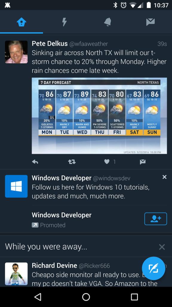 Twitter dark theme UI ab testing