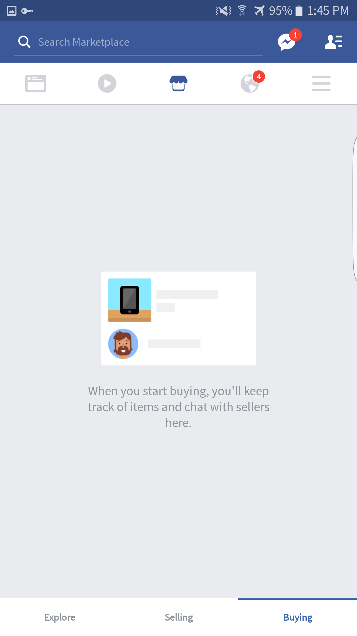 Facebook starts testing Marketplace tab in their Android app