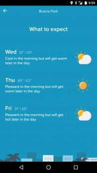 Sunshine Weather Screenshot