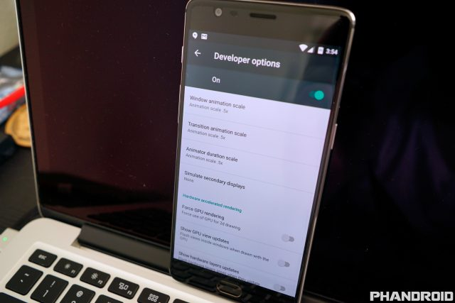 OnePlus 3 Developer Options DSC00360