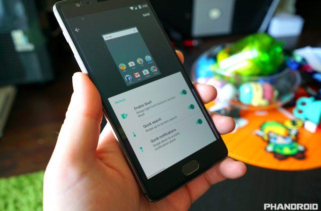 OnePlus 3 Launcher Gestures DSC00347